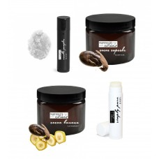 Chocolate Lovers Gift Box Set Hair Face Mask Lip Balm Scrub