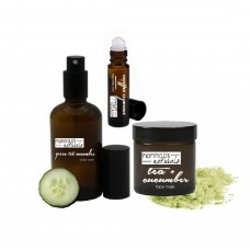 Facial Gift Box Set / Cucumber Toner / Eye Depuffer / Face Mask