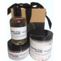 Rose Petal Scrub Salts Oil Bath Gift Set