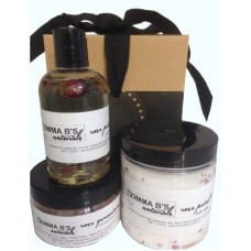 Rose Petal Scrub Salts Oil Bath Gift Set